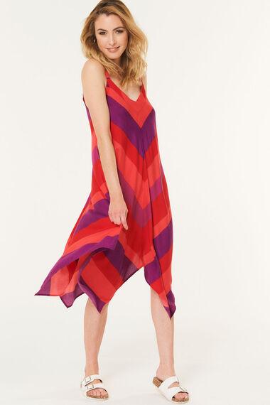 Stripe Hanky Hem Dress