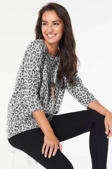 Soft Touch Animal Print Sweat