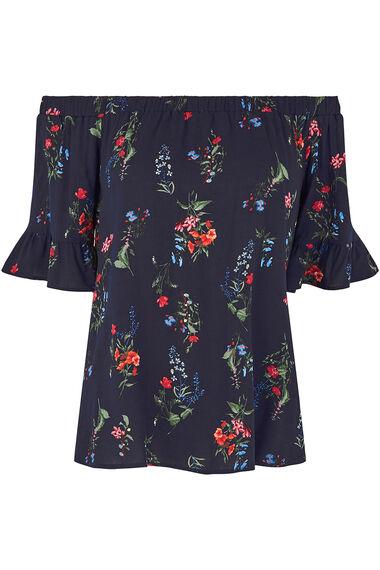Ditsy Floral Print Bardot Top