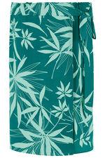 Leaf Print Wrap Skirt