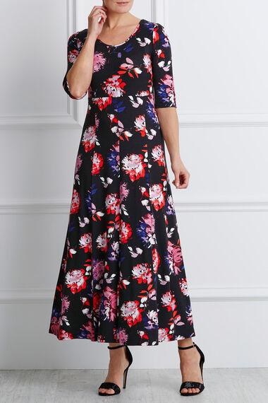 8cbf5be9f8 3/4 Sleeve Floral Maxi Dress