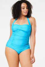 Ruched Front Halterneck Swimsuit