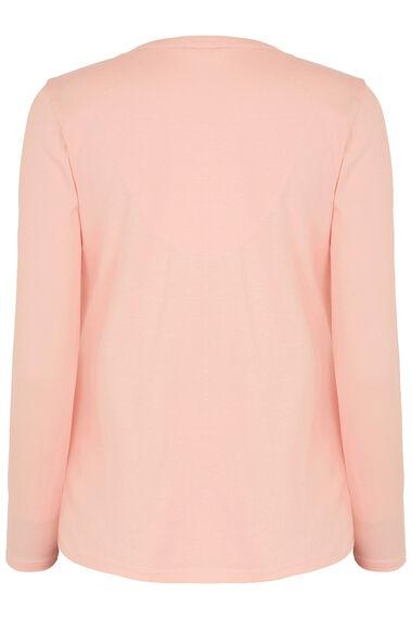 Pink Henley Top Loungewear Set