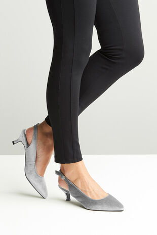 Comfort Plus Velvet and Sparkle Slingback Heel