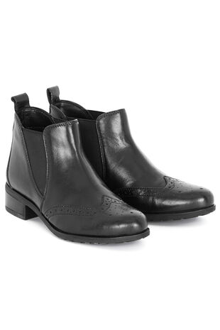 Comfort Plus Leather Chelsea Boot