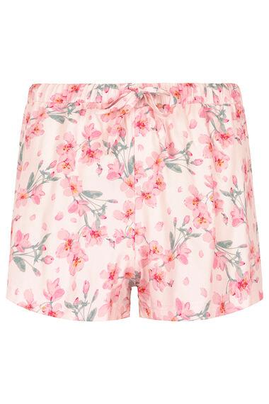 Woven Floral Panel Pyjama Short Set