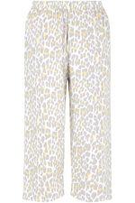 Animal Print Crop Pyjama Set