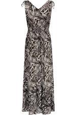 Palm Print Shoulder Maxi Dress