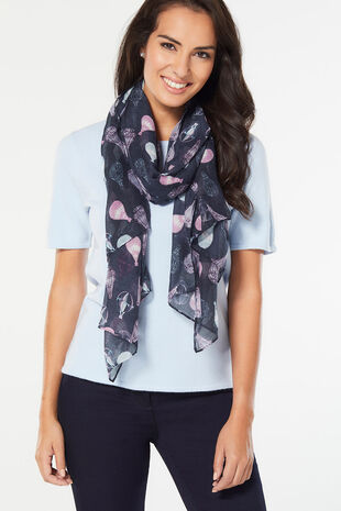 Hot Air Balloon Printed Scarf