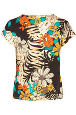 Floral Print Top with Side Buckle