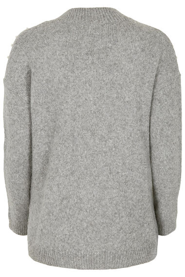 Pearl Trim Turtle Neck Jumper