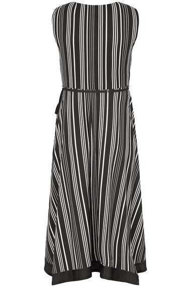 Striped Wrap Hanky Hem Dress