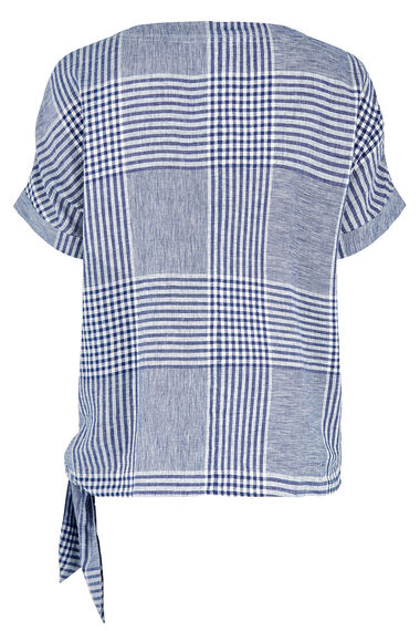 Short Sleeve Check Shell Top