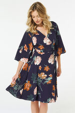 Izabel Floral Wrap Dress