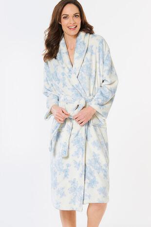 42a65f8e540 Linea Floral Fleece Robe