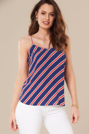 7812f214c3f Grace By Eda Diagonal Stripe Camisole Top
