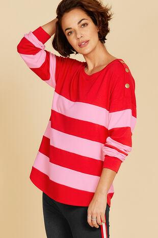 Wide Stripe Sweatshirt