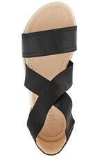 Krush Snake Effect Wide Strap Sandal