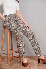 Salvari Leopard Print Pull On Trouser