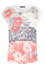 Patchwork Floral Print Snit Sweat