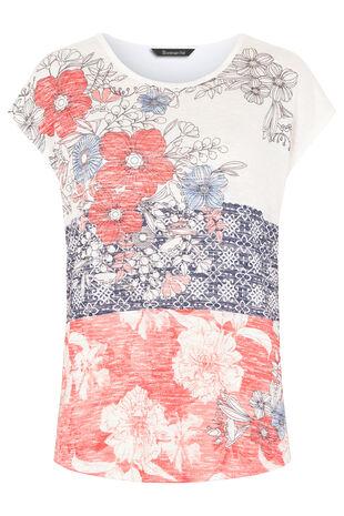 Patchwork Floral Print Snit Sweat
