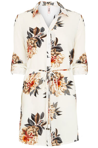 Stella Morgan Floral Longline Shirt With Belt