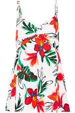 Floral Twist Front Swimdress