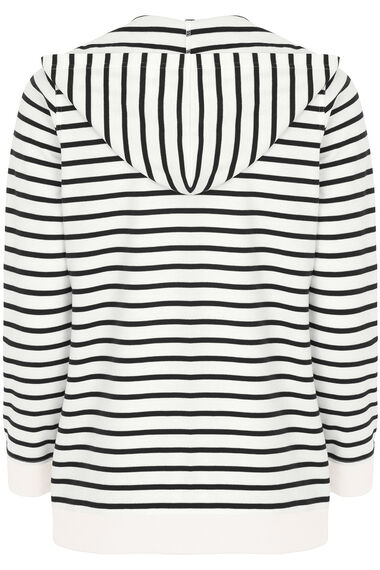 Lace Up  Stripe Hoody