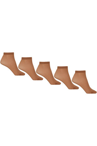 5 Pack 15 Denier Ankle Highs