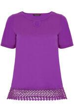 Short Sleeve Lace Trim Top