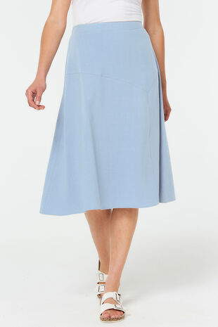 Plain Sand Linen Blend Flippy Skirt