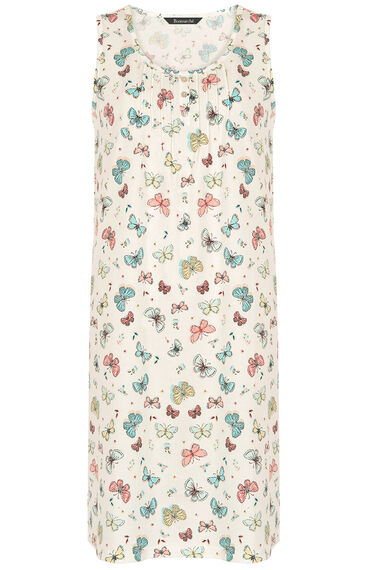 Butterfly Sleeveless Cotton Nightdress