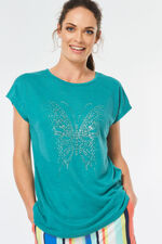 Butterfly Studded T-Shirt
