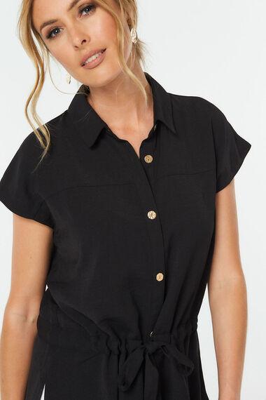 Tie Detail Longline Shirt