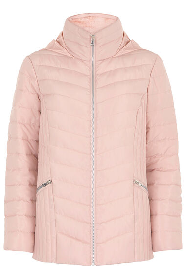 Quilted Jacket With Faux Fur Collar Home Delivery Bonmarch
