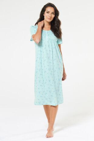 Ditsy Sprig Print Classic Nightdress