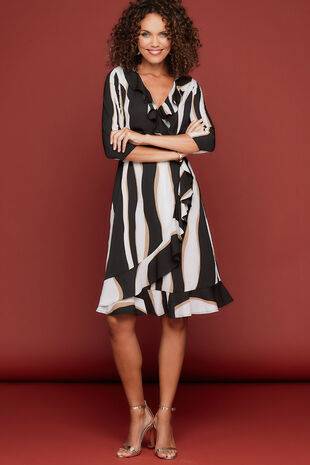 Izabel Frill Wrap Dress