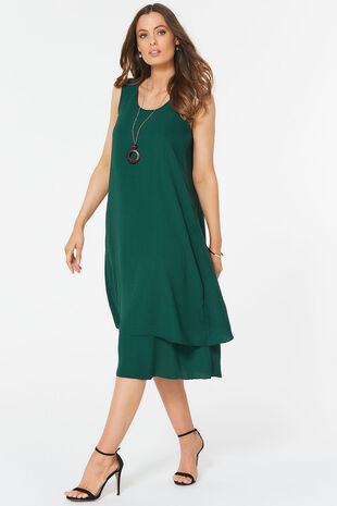 Sleeveless Double Layer Dress