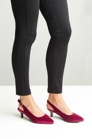 Comfort Plus Velvet and Sparkle Slingback Heel