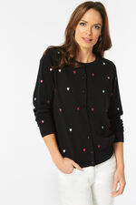 Heart Embroidered Cardigan