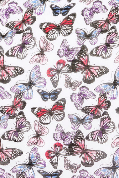 Butterfly Print Chiffon Scarf