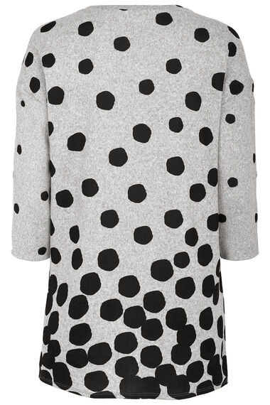 Snit Tunic in Spot Print with Popper Detail on Sleeves