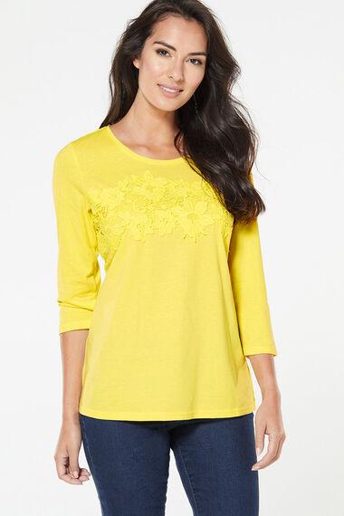 Lace Front Detail T-Shirt