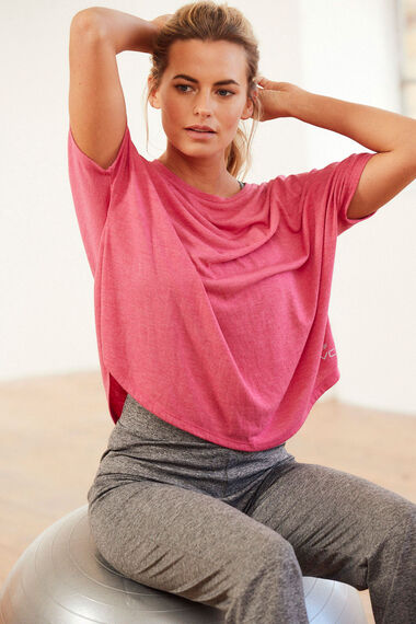 NVC Activewear Mesh Insert Back Sports Top