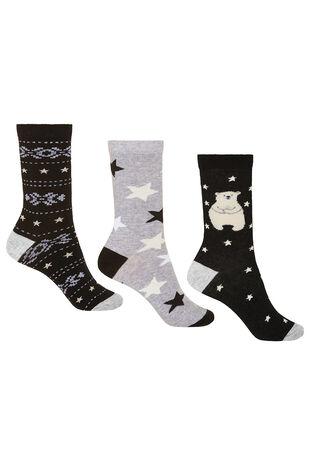 3 Pack Polar Bear Sock
