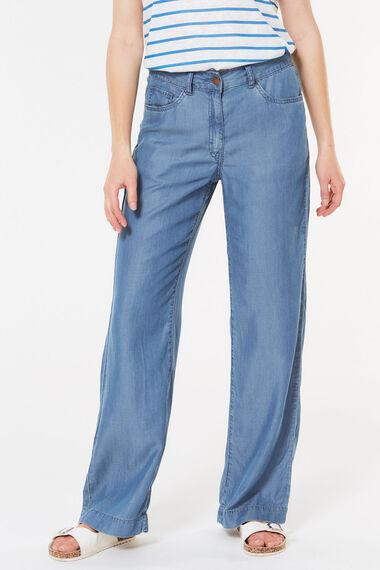 Tencel Wide Leg Jean