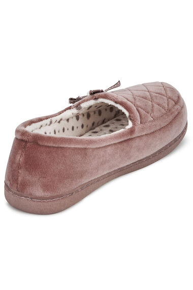 Quilted Velour Moccasin
