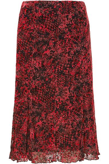 Red Burnout Skirt
