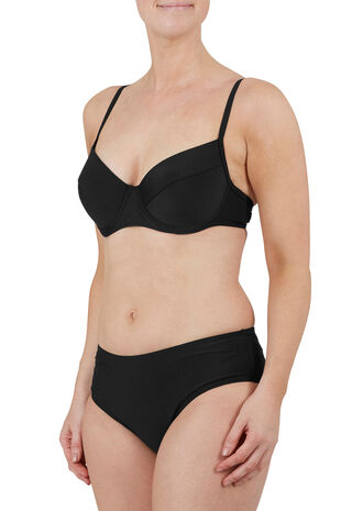 Plain Black Underwired Bikini Top