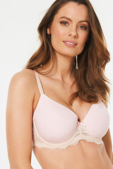 Lace Trim Underwired T-Shirt Bra